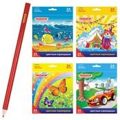 тип карандаша: Цветной, материал корпуса карандаша: дерево, наличие ластика: Нет
