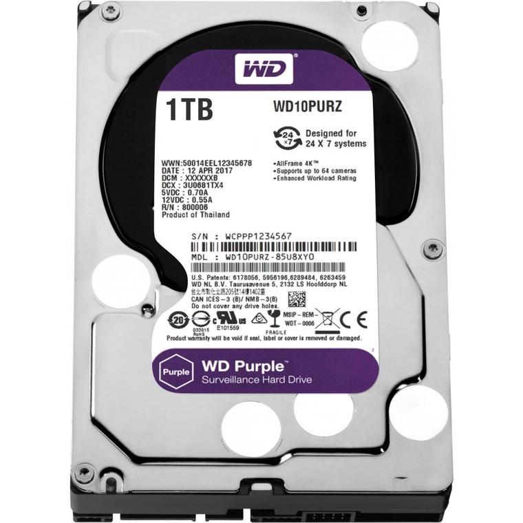 Купить Жесткий диск HDD Western Digital WD Purple WD10PURZ 1000 Гб в интернет-магазине КораллМикро. Цены и характеристики Жесткий диск HDD Western Digital WD Purple WD10PURZ 1000 Гб