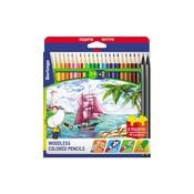 тип карандаша: Цветной, материал корпуса карандаша: пластик, наличие ластика: Нет